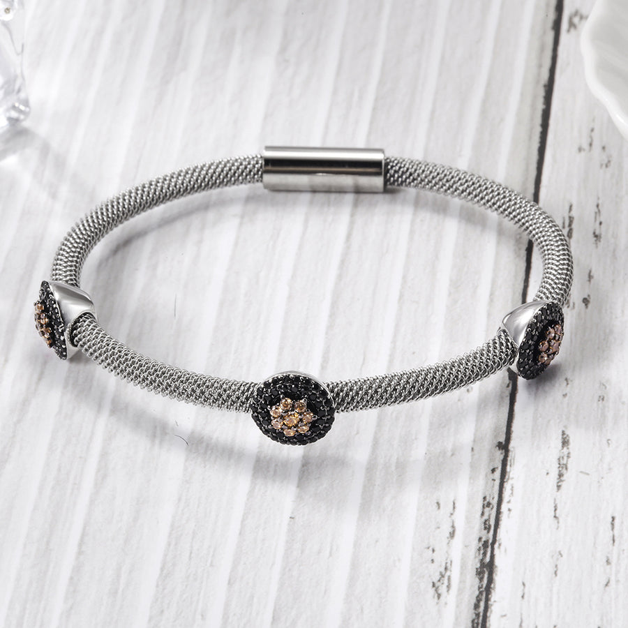 Flower Cable Station Bangle