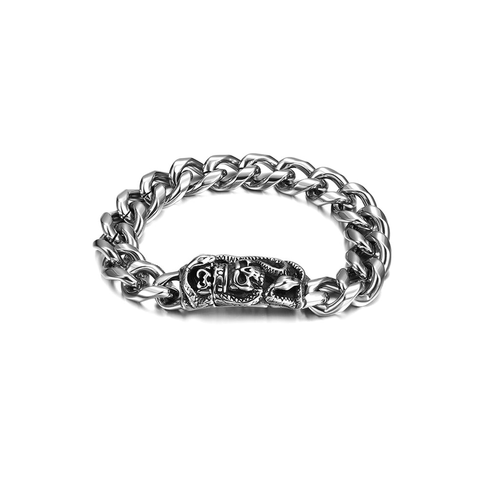 Load image into Gallery viewer, Skull Chunky Chain Bracelet
