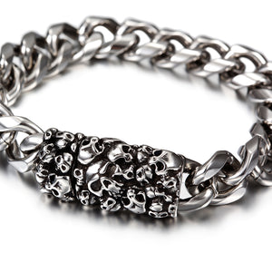 Load image into Gallery viewer, Skull Chain Bracelet