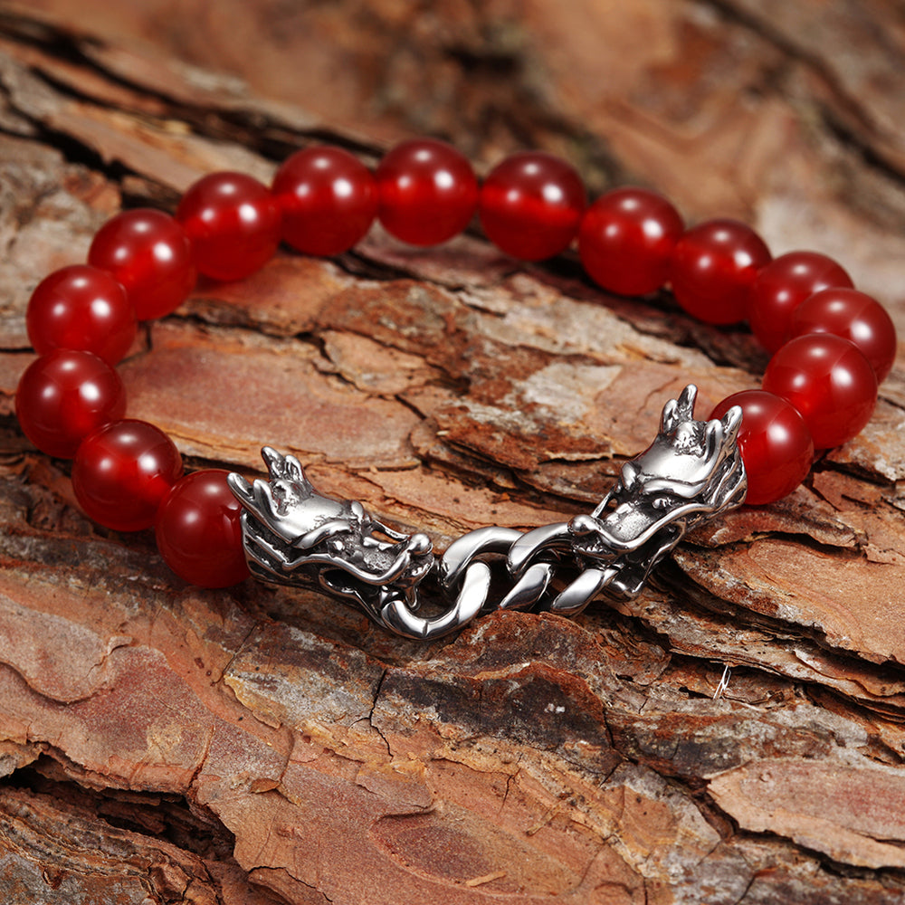 Load image into Gallery viewer, Red Agate Dragon powerful Bracelet