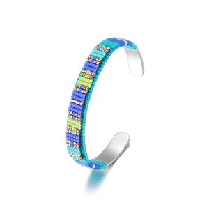 Woven Beaded Bangle