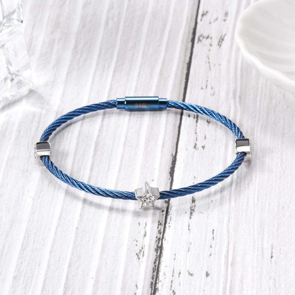 PAVÉ Star Stacking Cable Bracelet