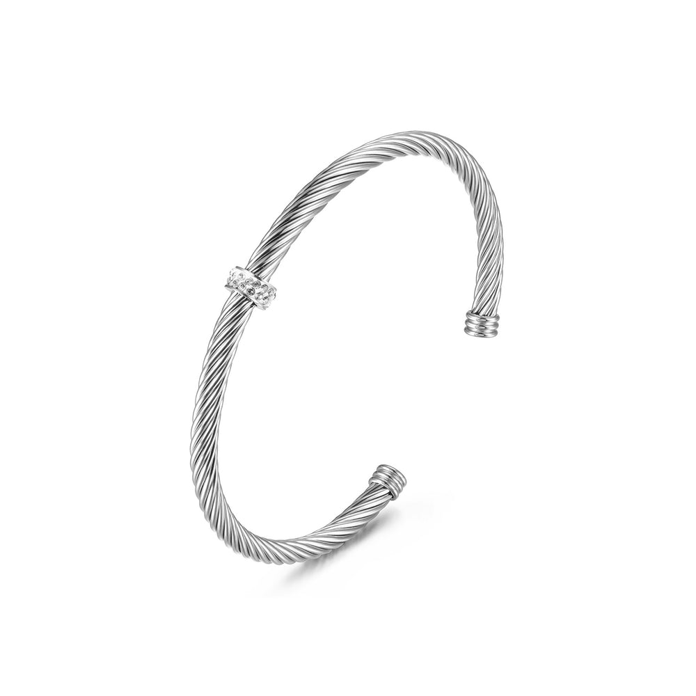 Load image into Gallery viewer, CZ CABLE CUFF