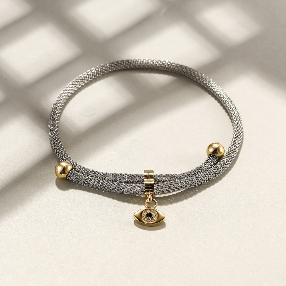 Load image into Gallery viewer, Mesh Cubic Zirconia Chain Bracelet