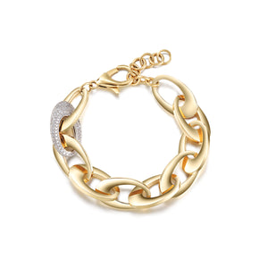 Load image into Gallery viewer, Oval Chain CZ Bracelet Lobster Clasp