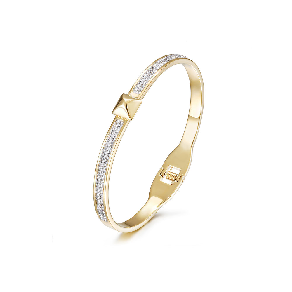 Square CZ Buckle Bangle
