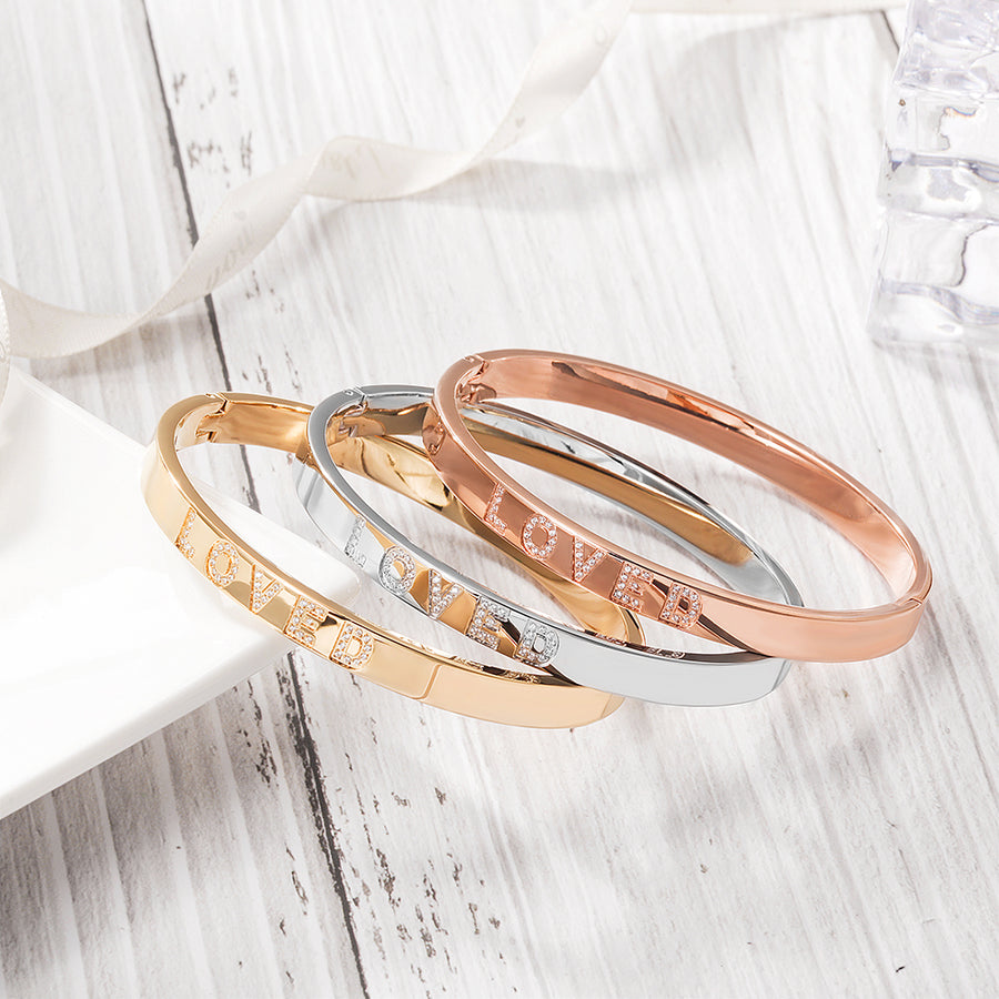 Engravable Forever Loved Bangle