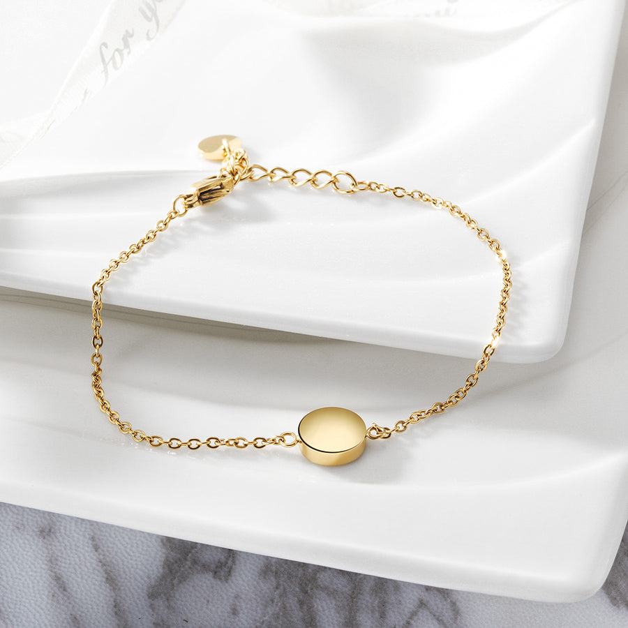Smooth Disc Bracelet