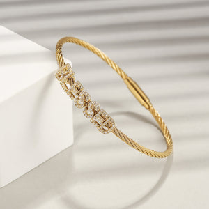 """BLESSED"" STATEMENT PAVÉ BRACELET"