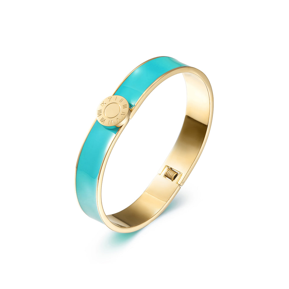 Roman Numerals Enamel Bangle