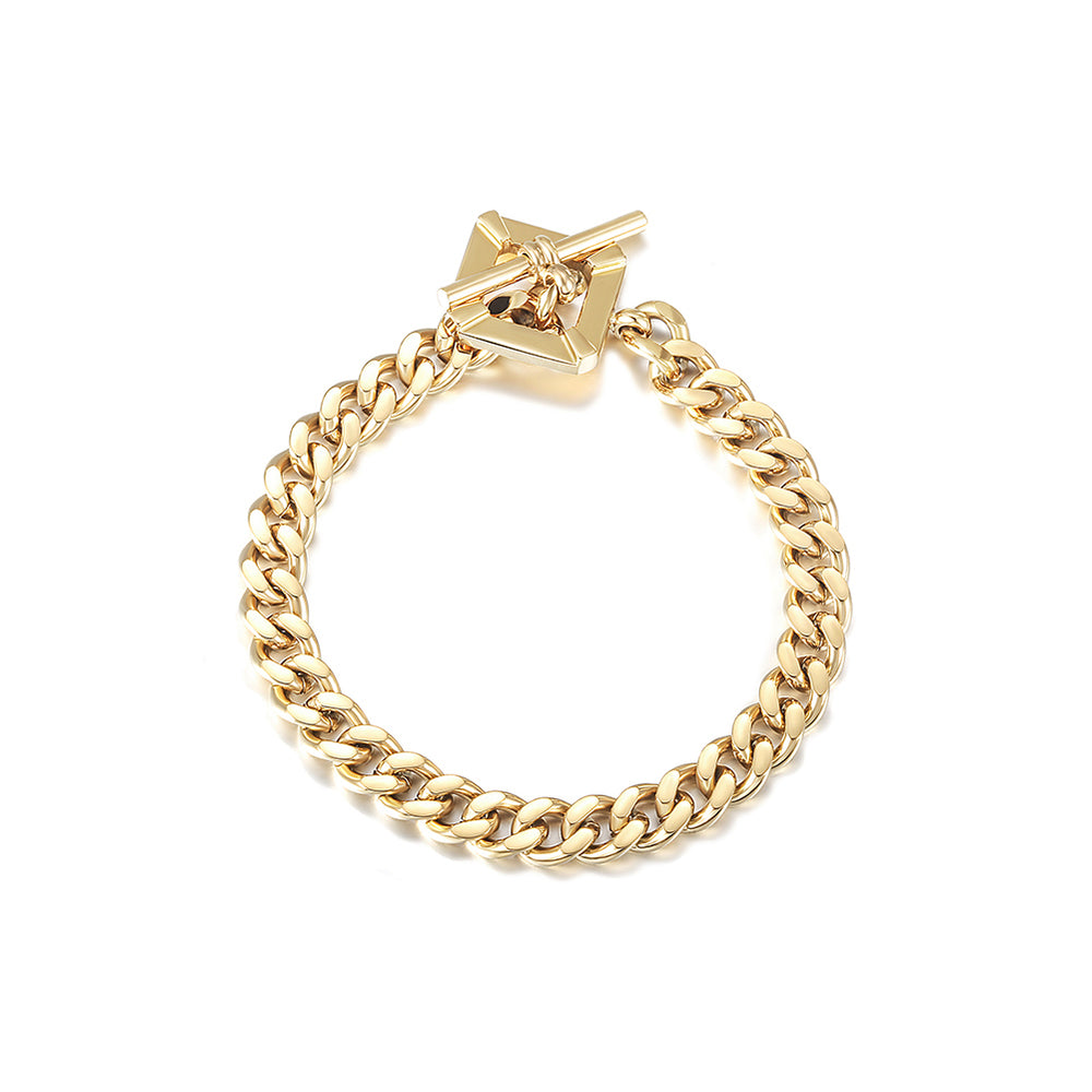 Square Toggle Clasp Chain Bracelet