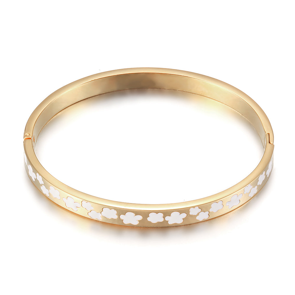Pavé Enamel Daisy Bangle