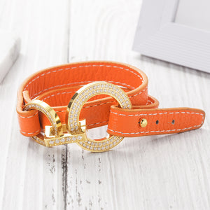 Load image into Gallery viewer, Double Tour Genuine Leather bracelet