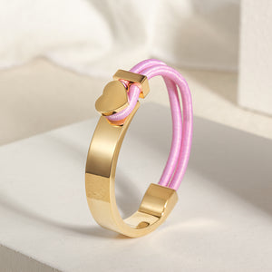 Load image into Gallery viewer, Half Hook Heart Bracelet