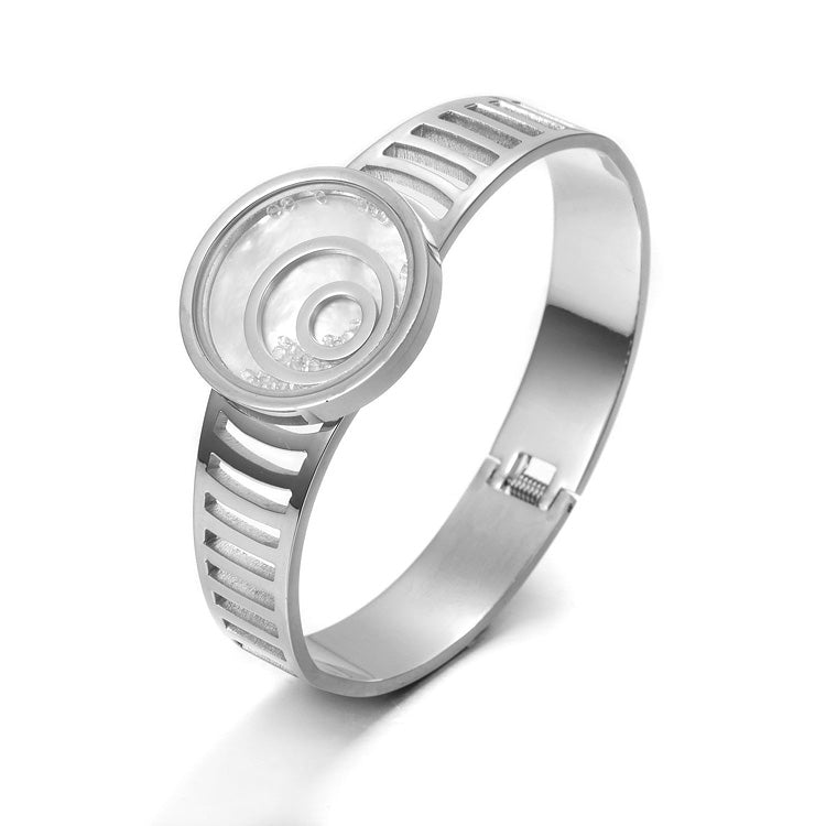 Load image into Gallery viewer, Floating CZ Circle Bangle