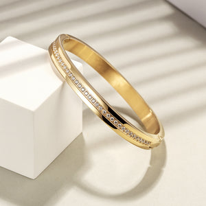 Pavé CZ Hinged Bangle