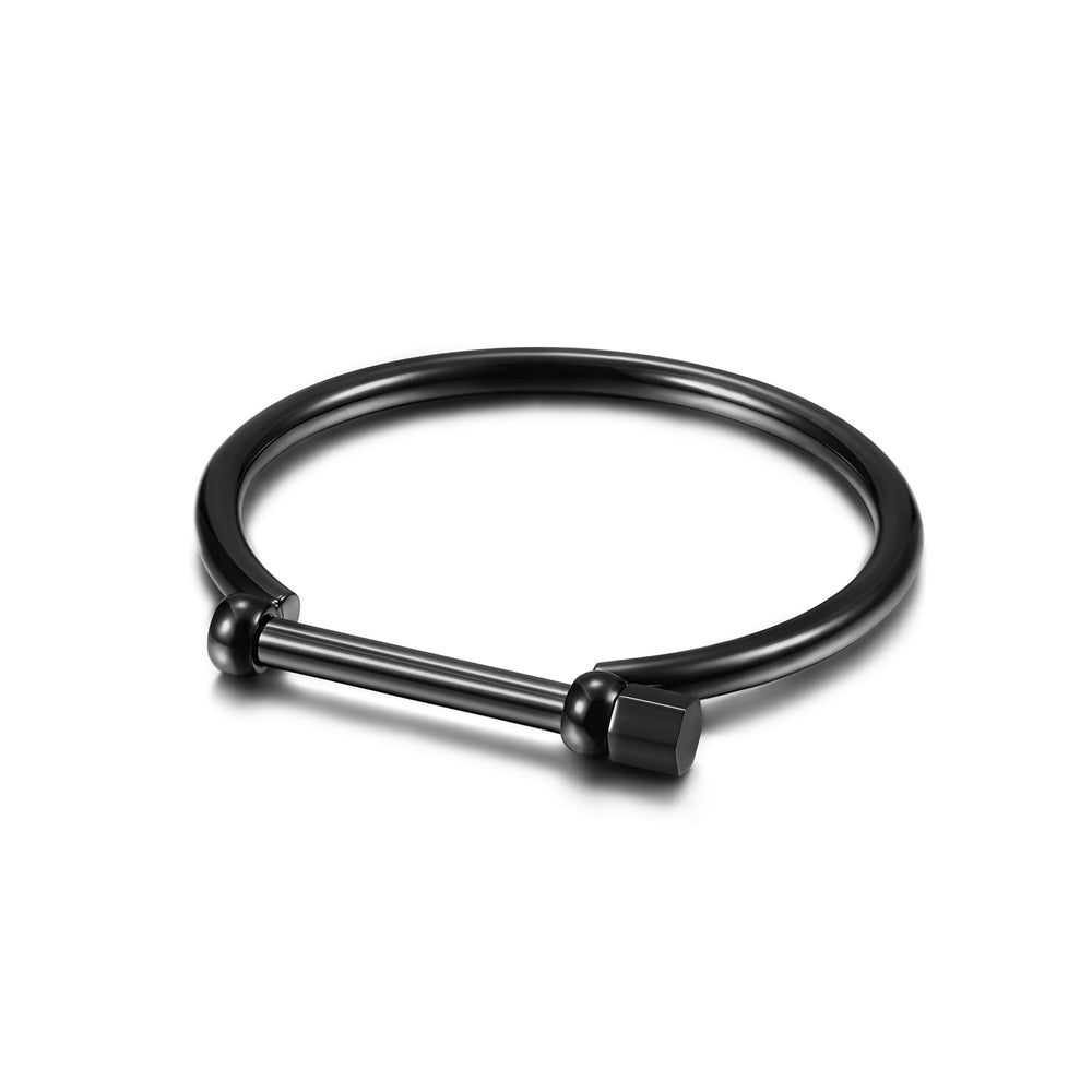 Load image into Gallery viewer, D-Shape Men's Screw Bar Bangle