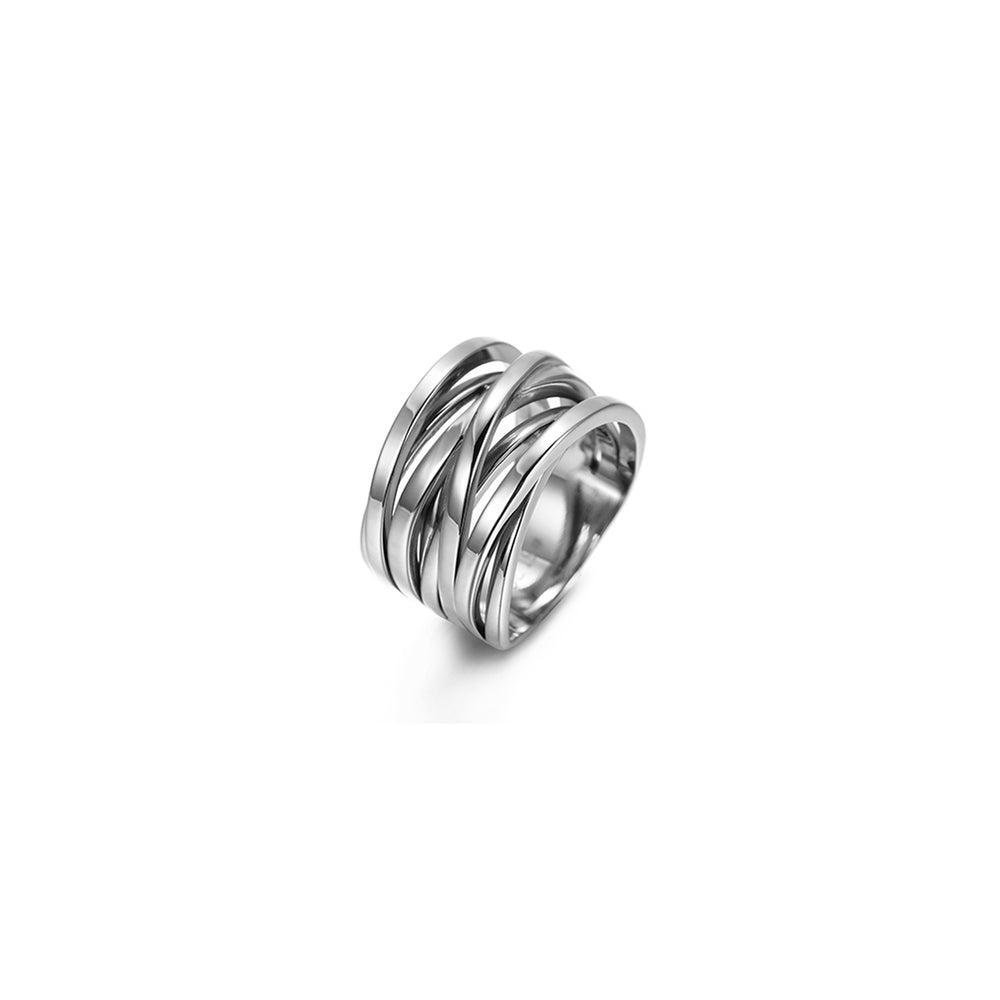 Silver Intertwined Statement Ring