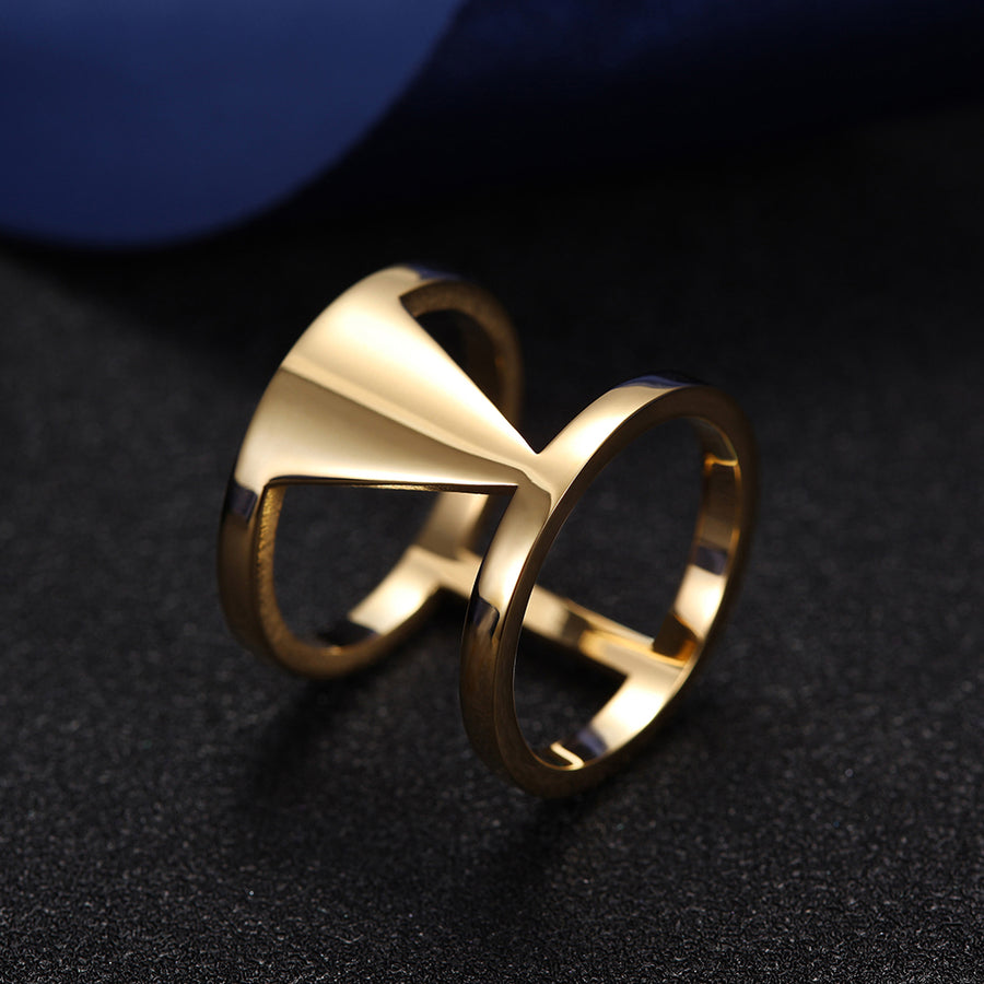 Double Hollow Statement Ring