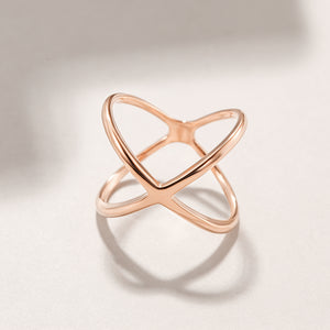Load image into Gallery viewer, Rose Gold Skinny Crisscross Band Ring