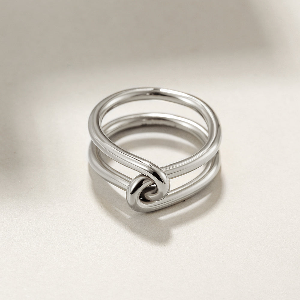 Silver Love Knot Ring