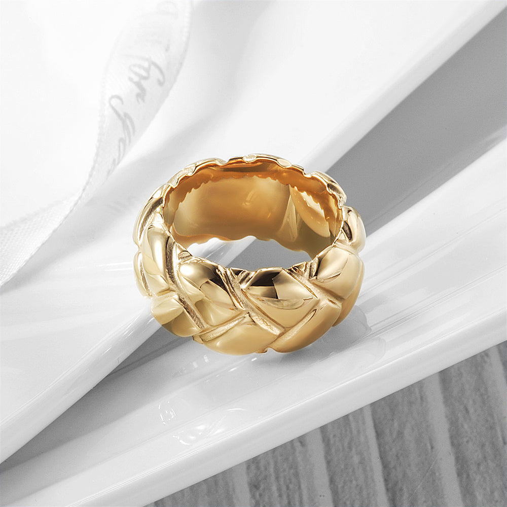 Modern Bold Braided Ring