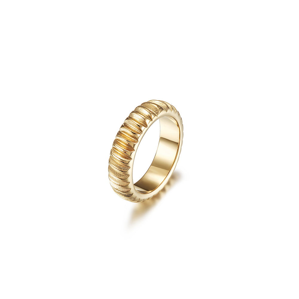 Modern Ribbed Ring