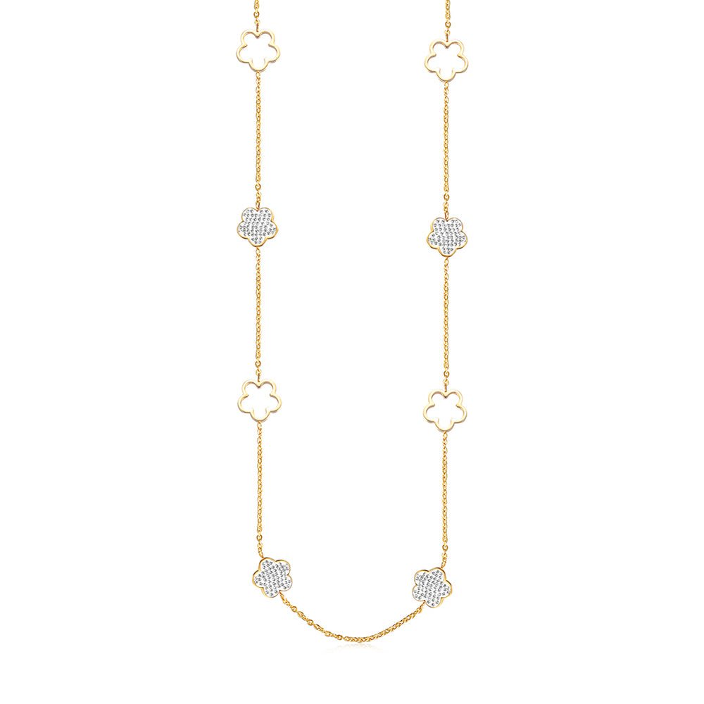 LUCKY CLOVER CZ NECKLACE
