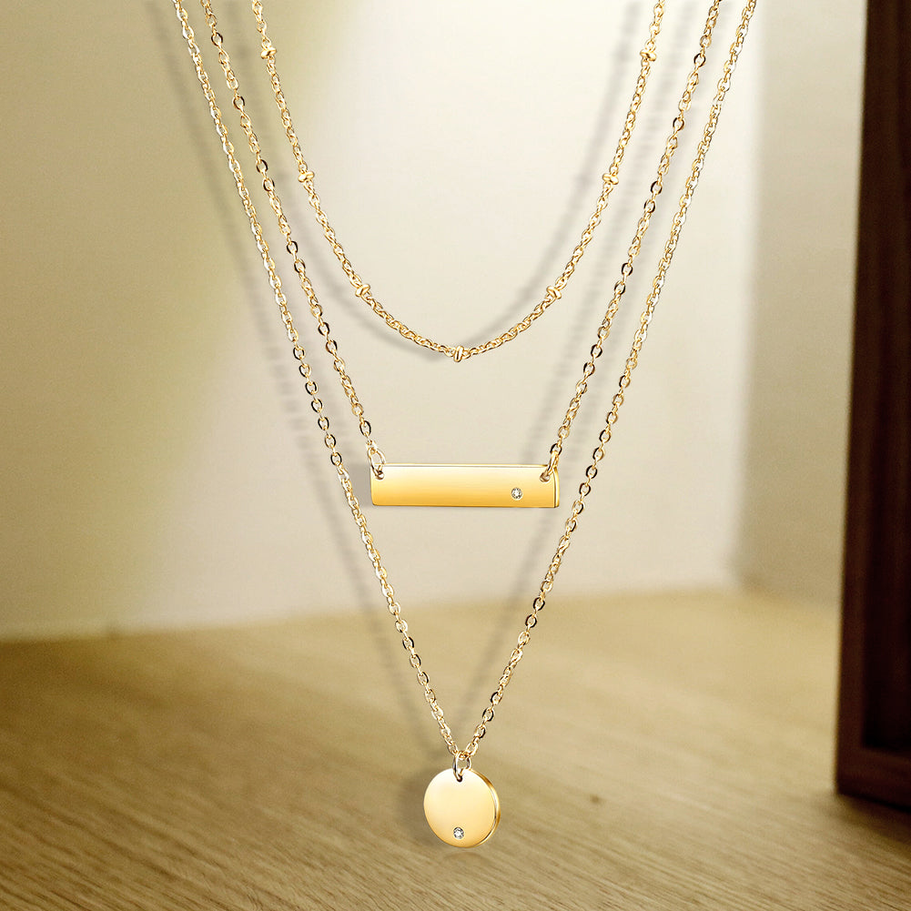 Three-Layered Chain Pendant