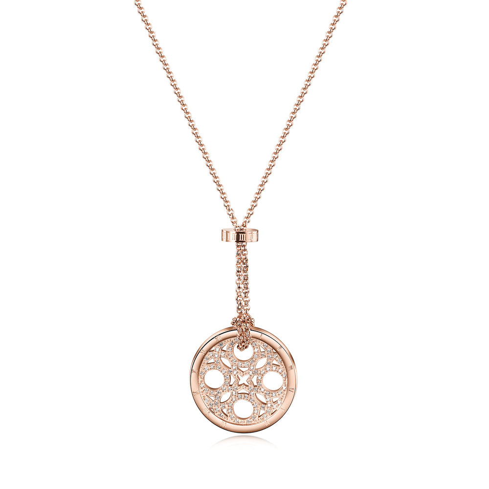 Load image into Gallery viewer, CZ Clover Medallion Necklace