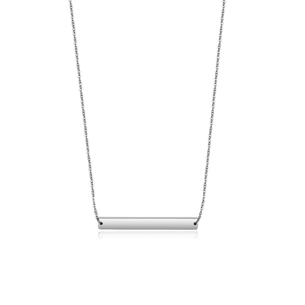 Load image into Gallery viewer, Horizontal Engravable Bar Necklace