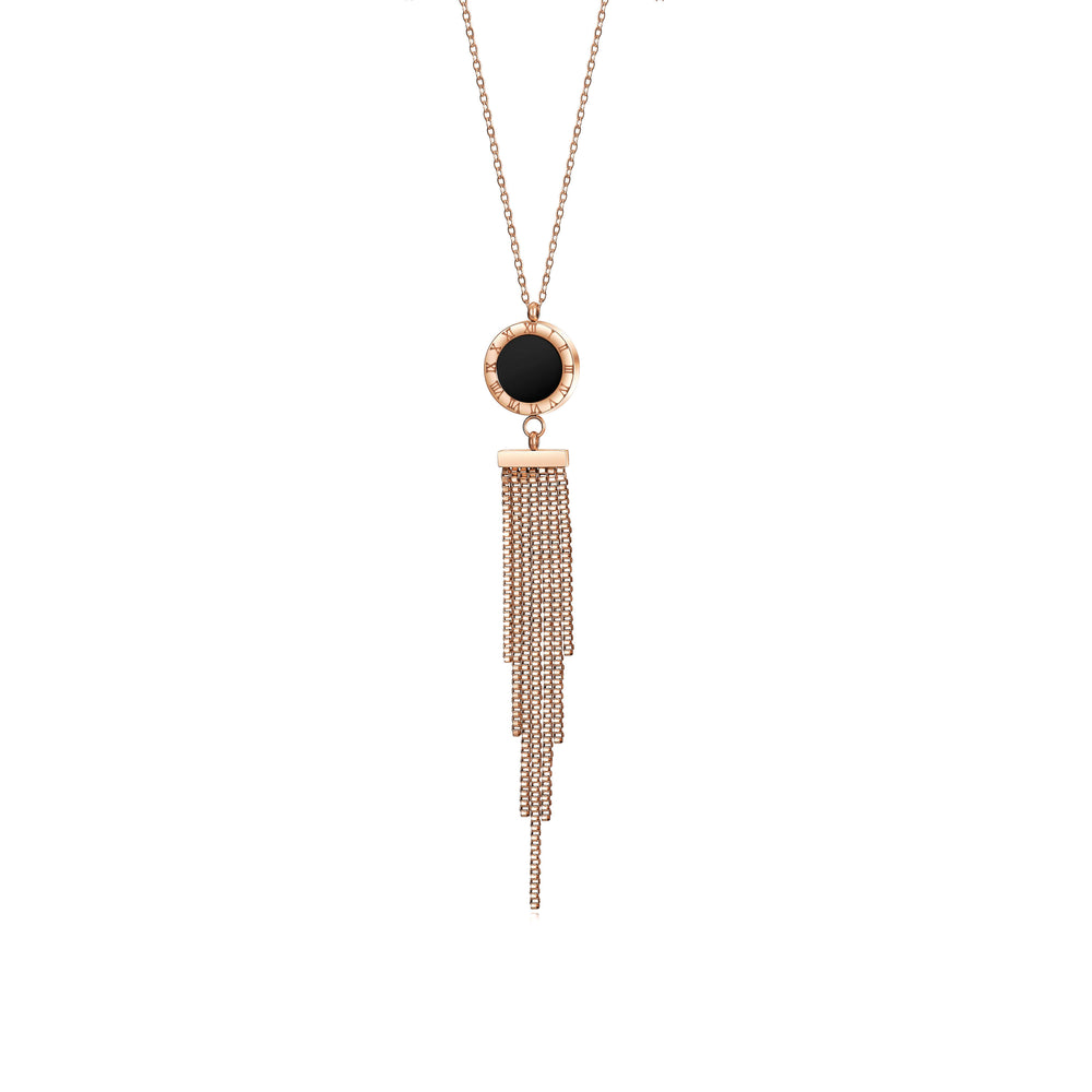 Load image into Gallery viewer, Long Tassel Pendant Necklace