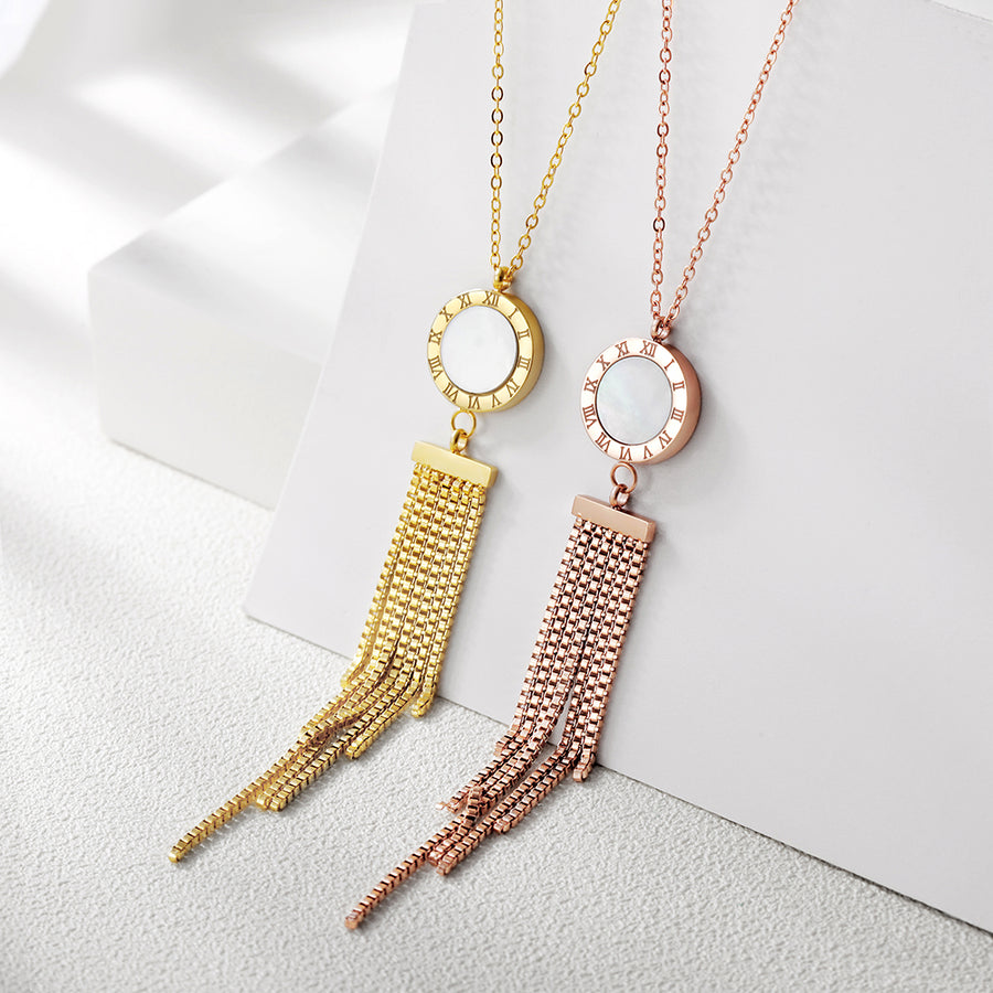 Long Tassel Pendant Necklace