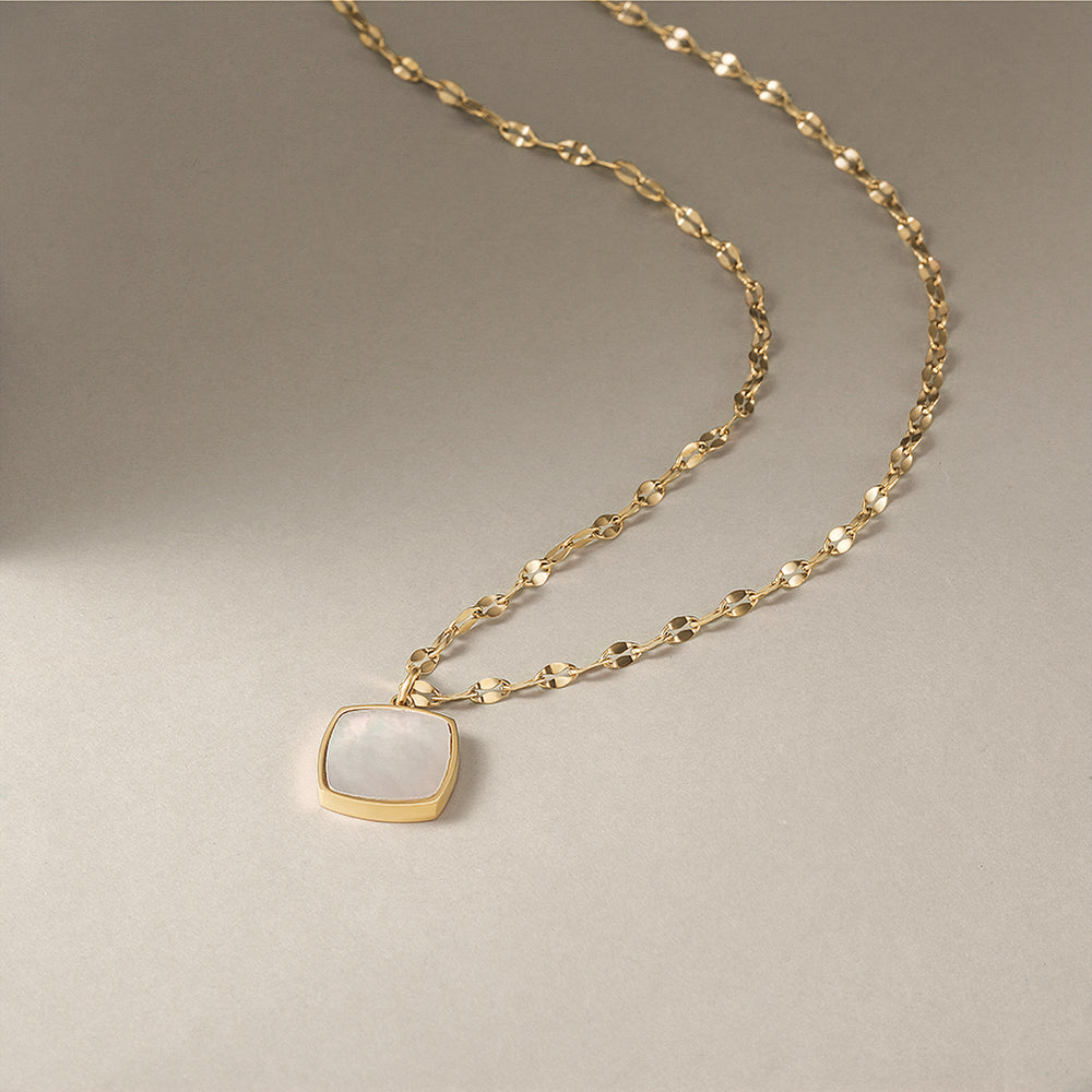 Load image into Gallery viewer, Square Opal Necklace