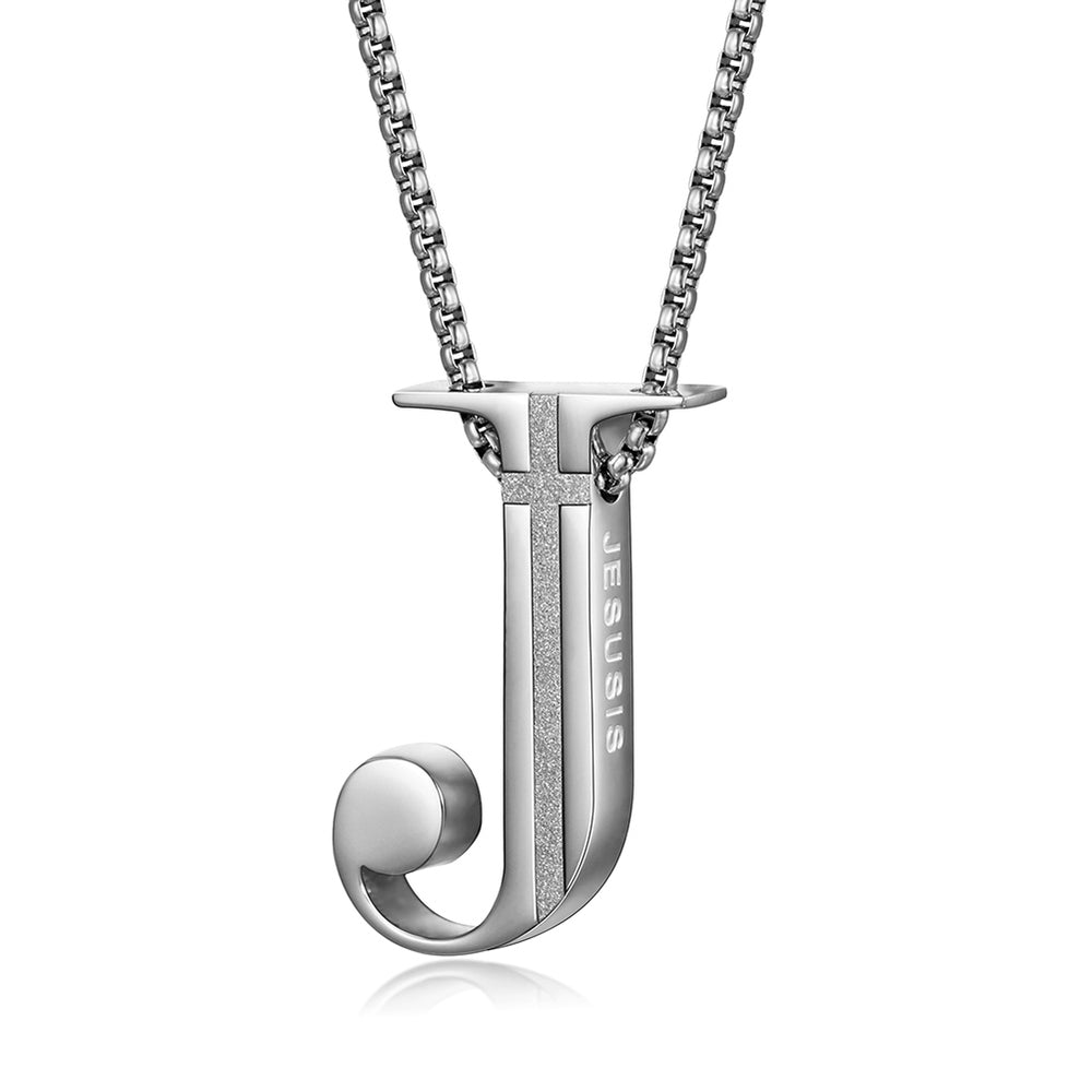 J-shaped Pendant Necklace