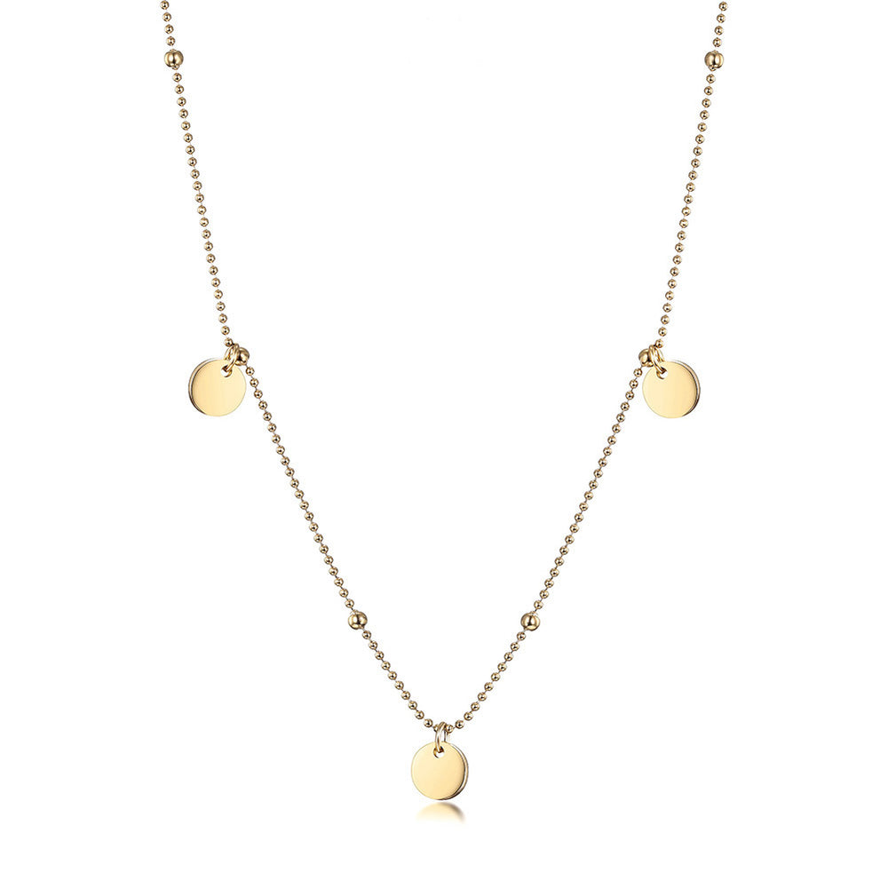 Dots Disc Bead Necklace