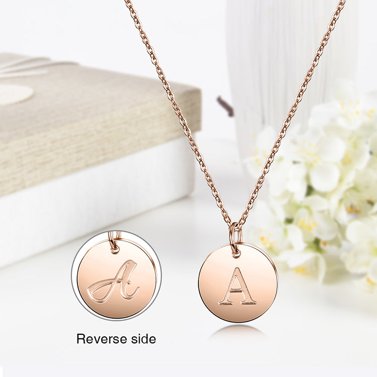 Rose Gold Initial Charmy Necklace