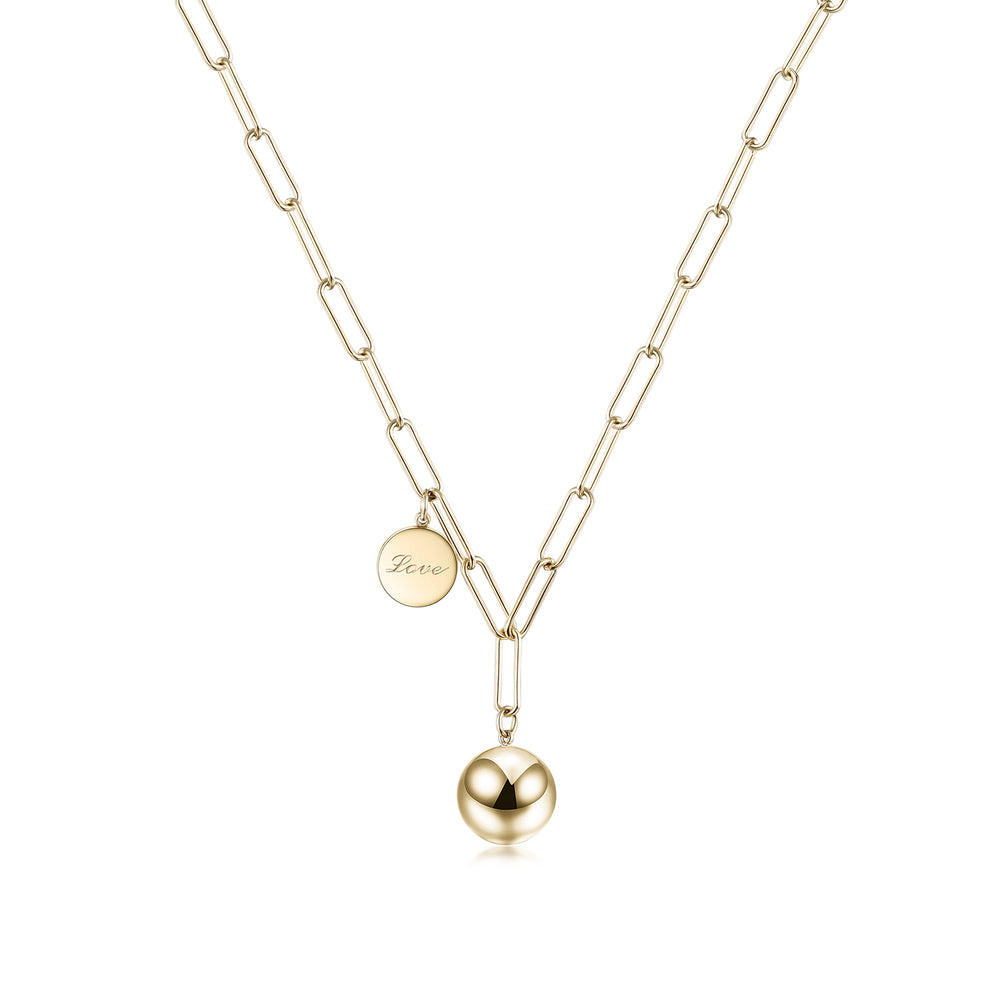 Modern Ball Pendant Necklace