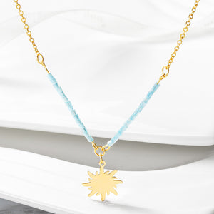 Load image into Gallery viewer, Sun Pendant Necklace