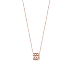 ZERO CZ ROSE GOLD NECKLACE