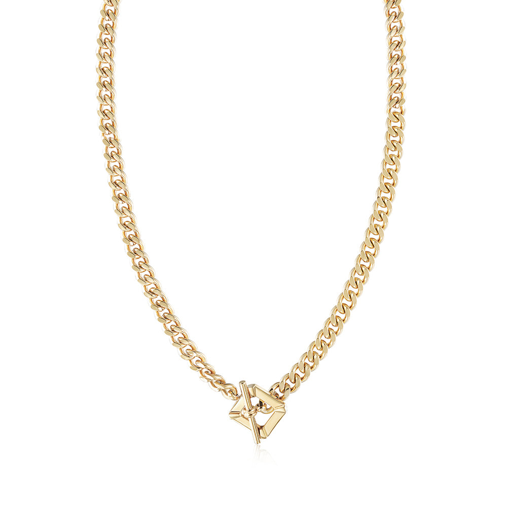 Square Toggle Clasp Chain Necklace