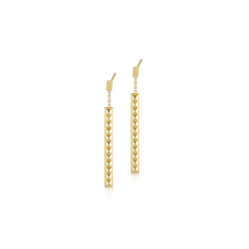 PYRAMID BAR EARRING