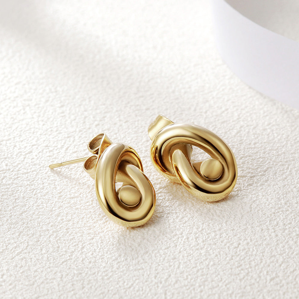 Knotted Stud Earrings