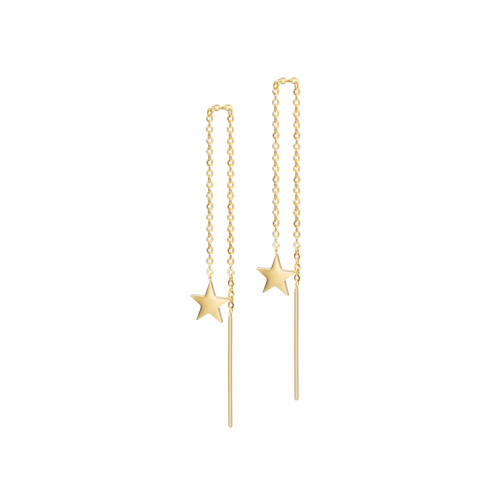 Load image into Gallery viewer, STAR THREADER EARRINGS