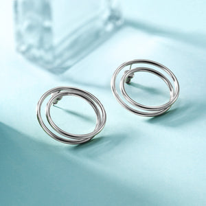 Double Layered Hoop Earrings