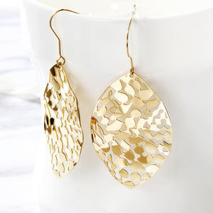 Leaf Dangle Drop Earrings