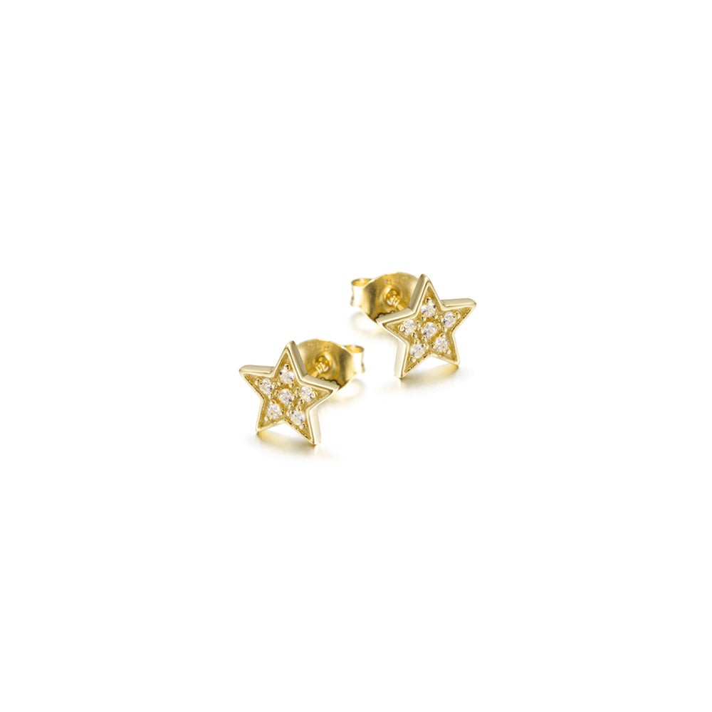 Star Shimmer Stud Earrings