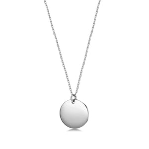 Load image into Gallery viewer, Engravable Disc Pendant Necklace