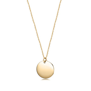 Polished Disc Pendant Necklace