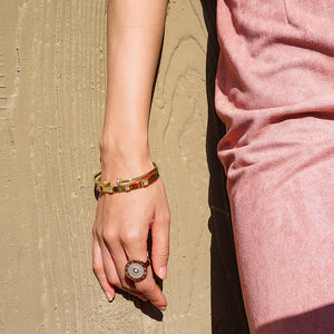 Shiny Button Cuff